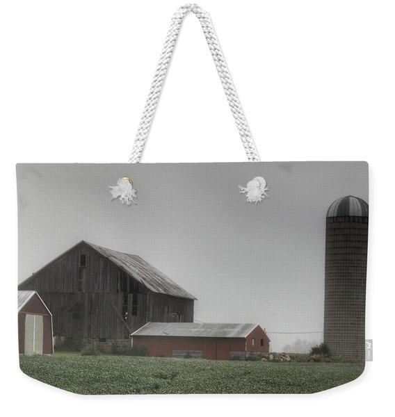 0011 - Farm In The Fog II Weekender Tote Bag