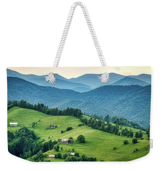 Farm In The Mountains - Romania Weekender Tote Bag