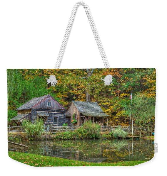 Farm In Woods Weekender Tote Bag