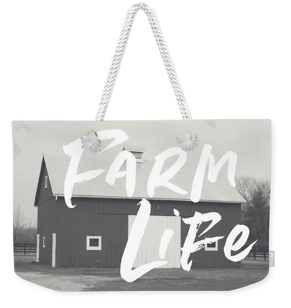 Farm Life Barn- Art By Linda Woods Weekender Tote Bag