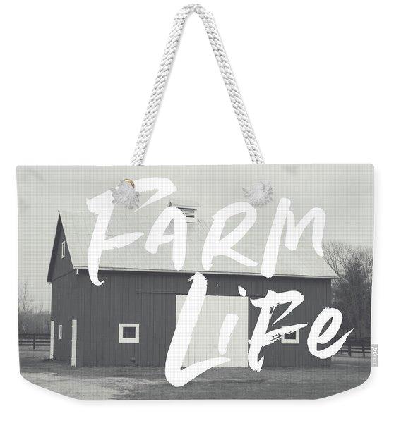 Farm Life Barn- Art By Linda Woods Weekender Tote Bag