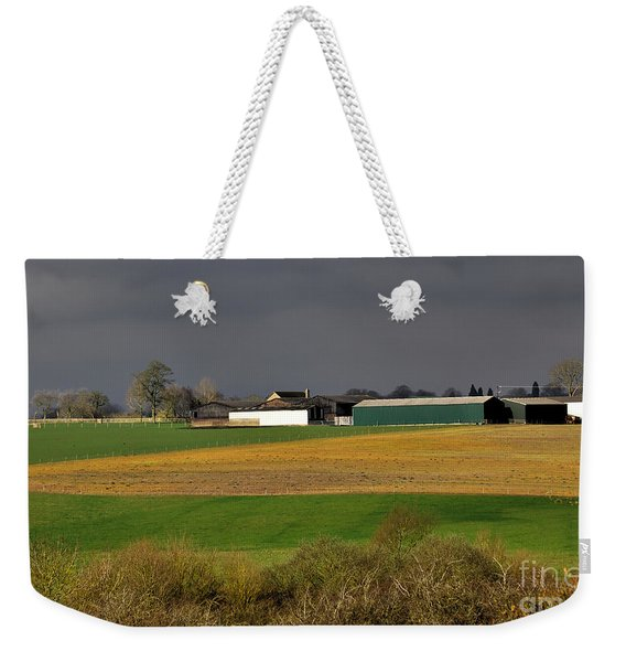 Weekender Tote Bag featuring the photograph Farm View by Jeremy Hayden