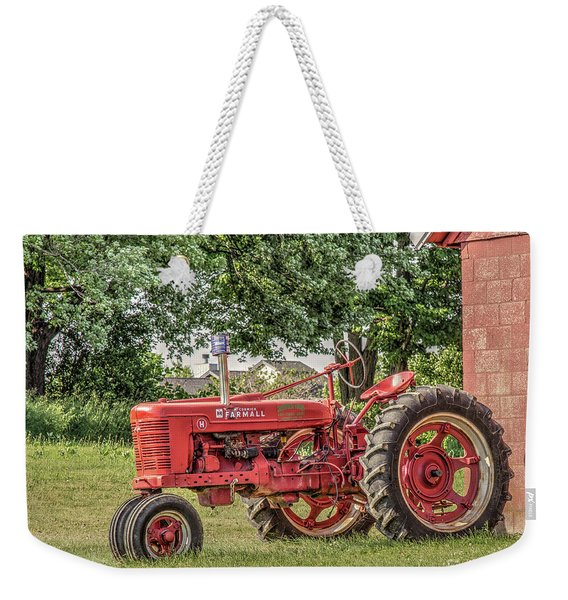 Farmall Tractor Weekender Tote Bag
