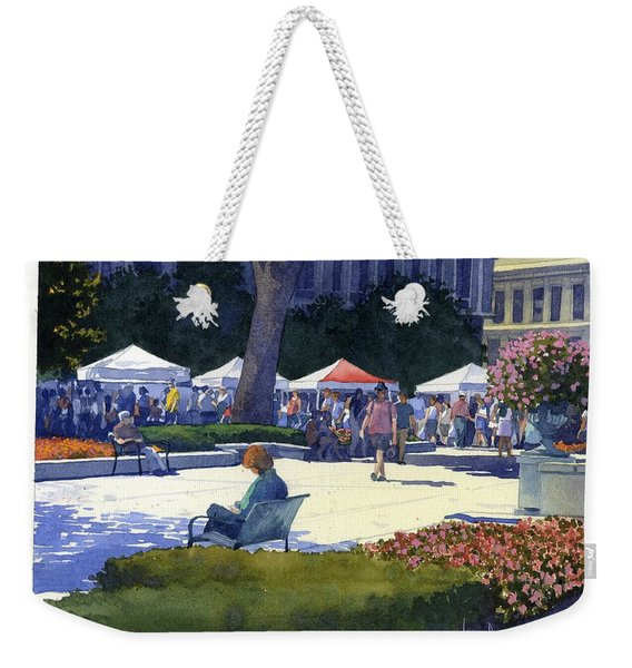 Farmers Market, Madison Weekender Tote Bag
