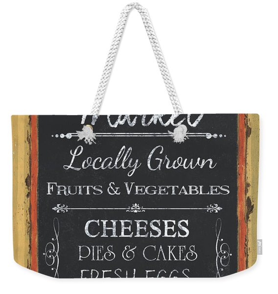 Farmer's Market Signs Weekender Tote Bag