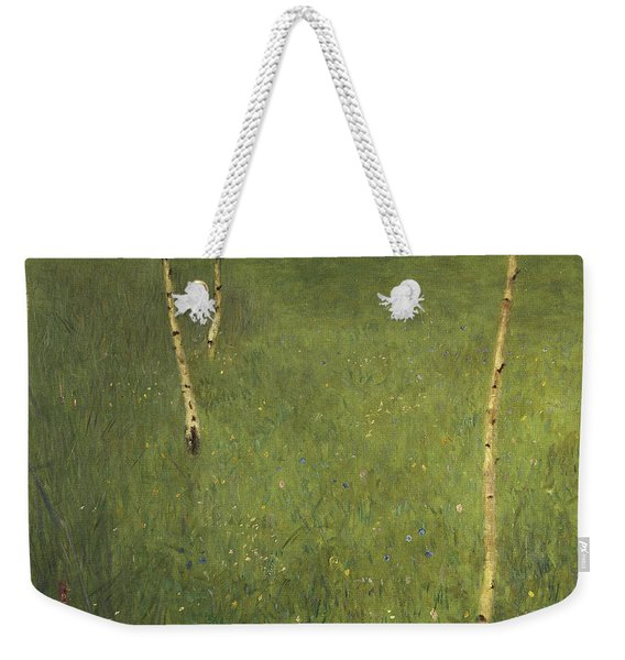 Farmhouse With Birch Trees Weekender Tote Bag
