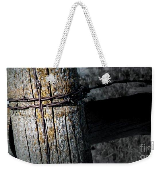 Farming Cross Weekender Tote Bag