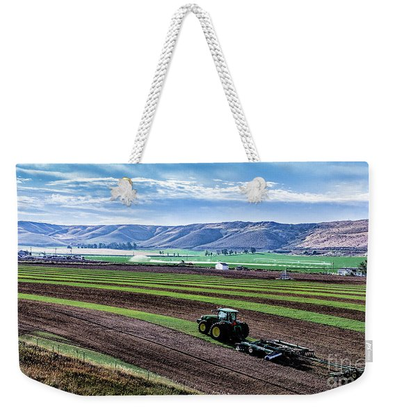 Farming In Pardise Agriculture Art By Kaylyn Franks Weekender Tote Bag