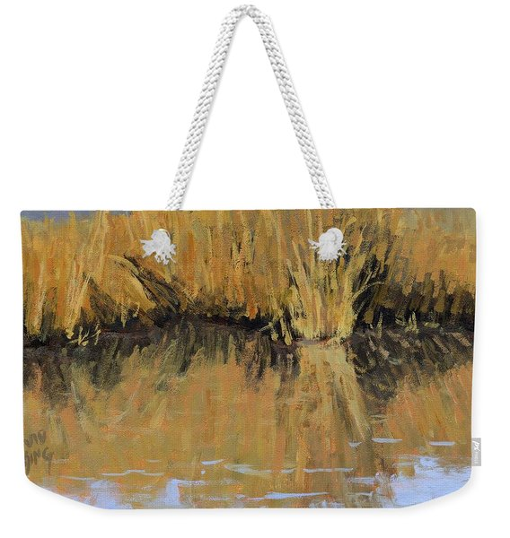 Farmington Bay Reeds Weekender Tote Bag