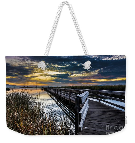 Farmington Bay Sunset - Great Salt Lake Weekender Tote Bag