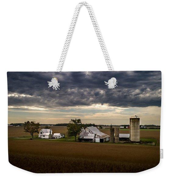 Farmstead Under Clouds Weekender Tote Bag