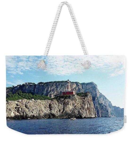 Faro Lighthouse - Ise Of Capri Weekender Tote Bag