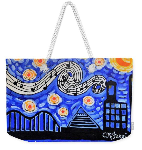 Memphis Nights Weekender Tote Bag