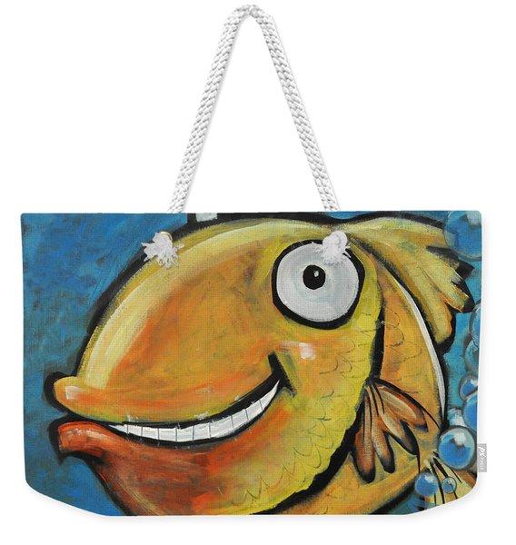 Farting Fish Weekender Tote Bag