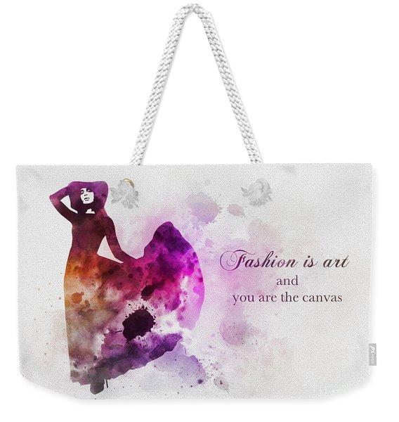 Fashion Is Art Weekender Tote Bag