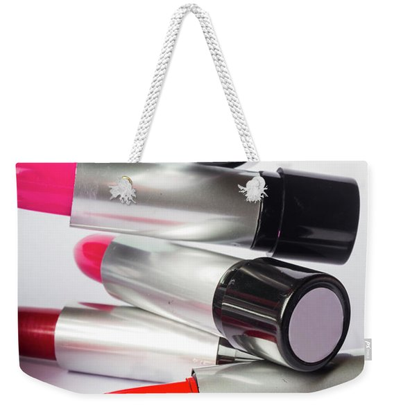 Fashion Model Lipstick Weekender Tote Bag