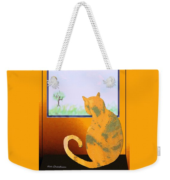 Fat Cat At Her Window Weekender Tote Bag