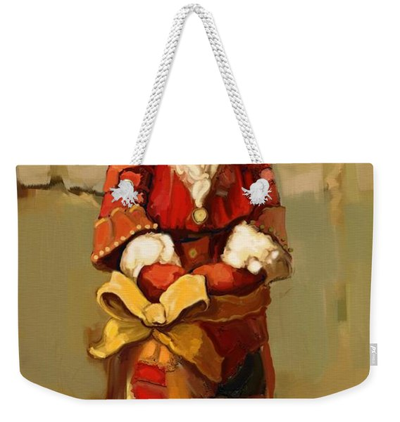 Father Christmas Weekender Tote Bag