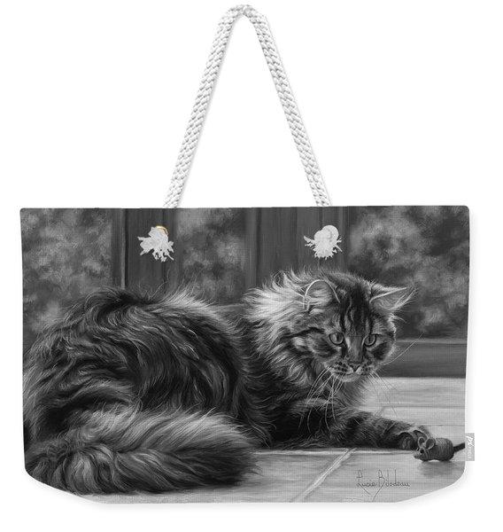 Favorite Toy - Black And White Weekender Tote Bag