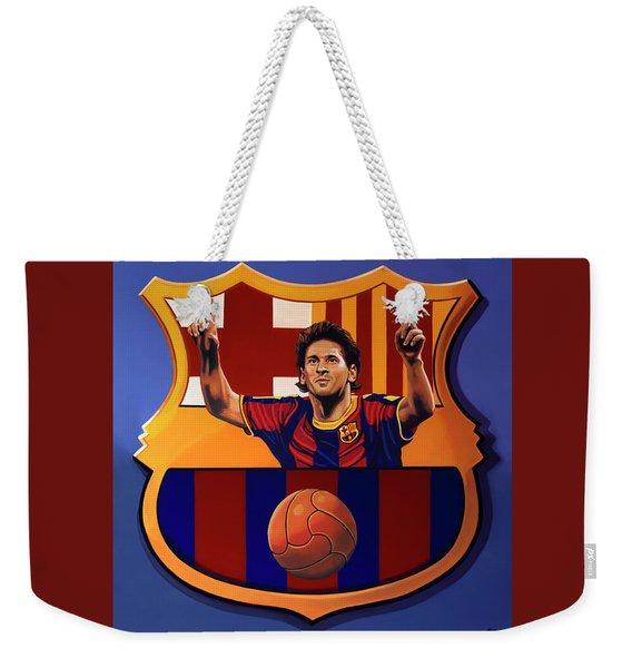 Fc Barcelona Painting Weekender Tote Bag