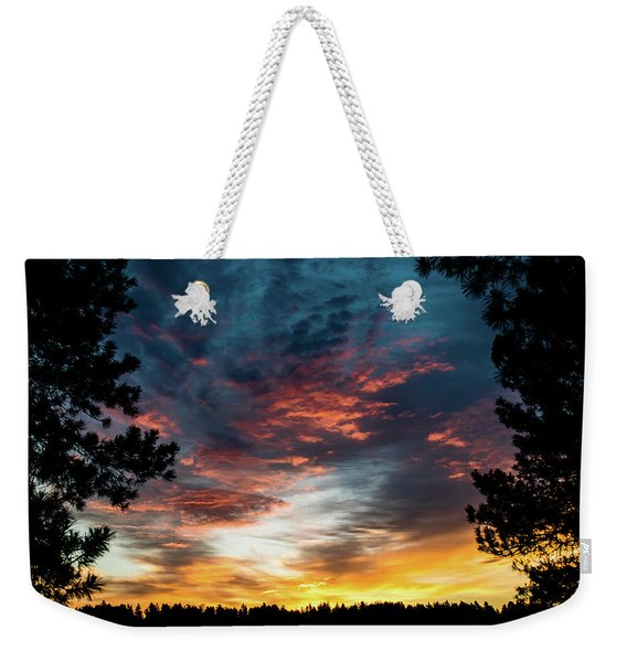 Weekender Tote Bag featuring the photograph Fearless Awakened by Jason Coward