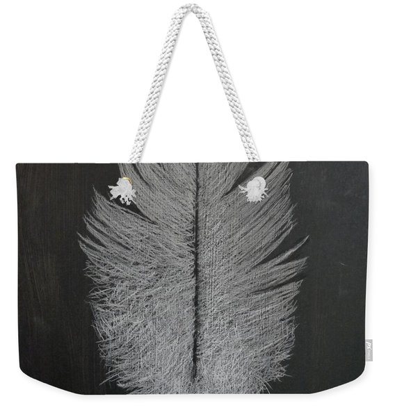 Weekender Tote Bag featuring the pastel Feather 1 by Richard Le Page