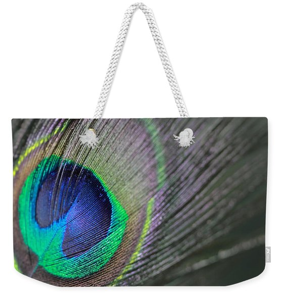 Feather In Green Weekender Tote Bag