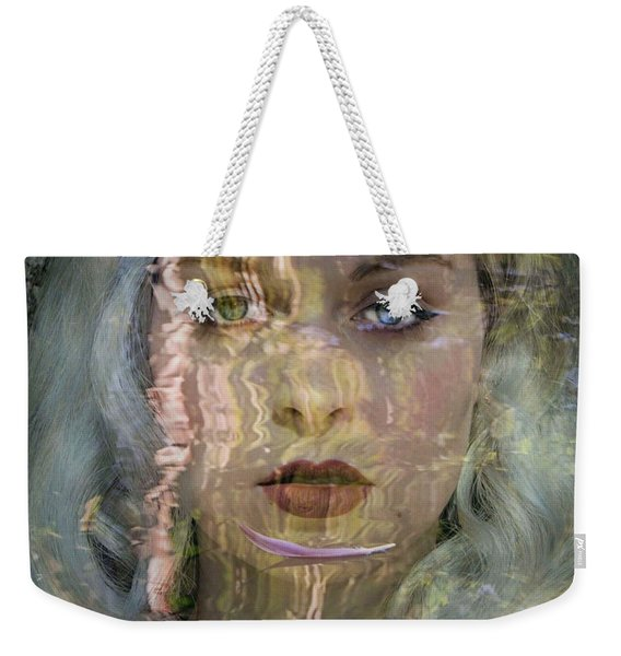 Feather In The River Weekender Tote Bag