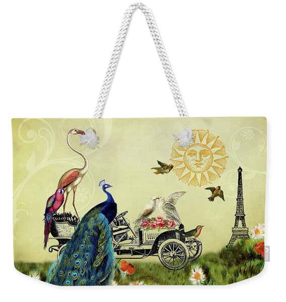 Feathered Friends In Paris, France Weekender Tote Bag