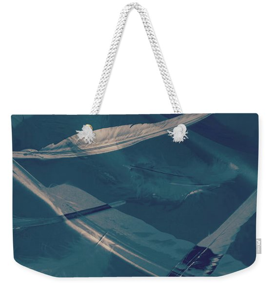 Feathers Floating In The Air Weekender Tote Bag
