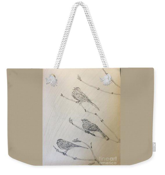 Feathers Friends Weekender Tote Bag