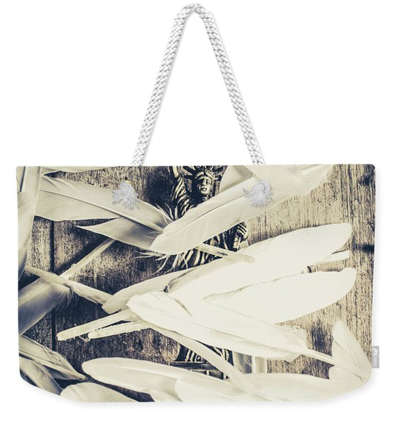 Feathers Of Freedom And The Statue Of Liberty Weekender Tote Bag