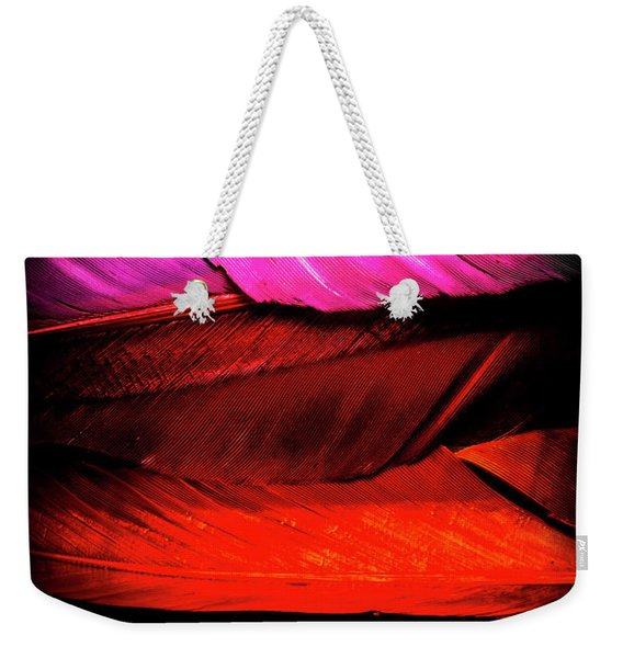 Feathers Of Rainbow Color Weekender Tote Bag