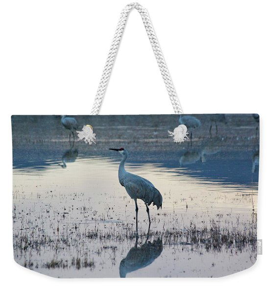 Weekender Tote Bag featuring the pyrography Feeling Blue by Michael Lucarelli