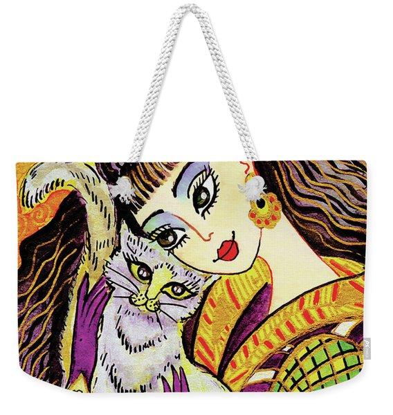 Feline Rhapsody Weekender Tote Bag
