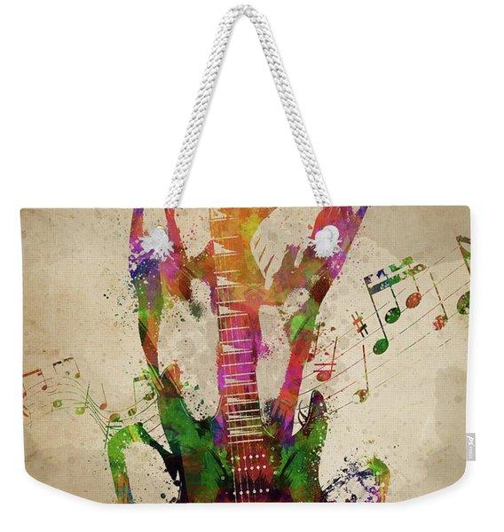 Female Guitarist Weekender Tote Bag