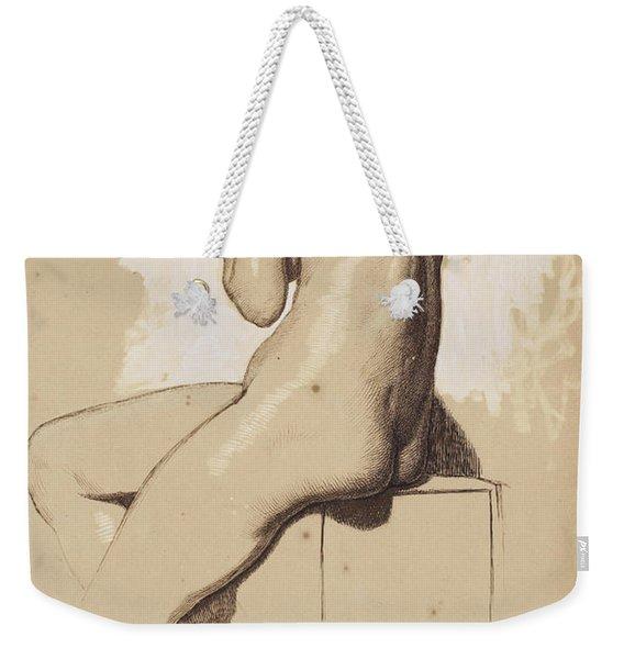 Female Nude - Study From Behind Weekender Tote Bag