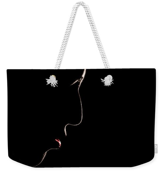 Female Outline Weekender Tote Bag