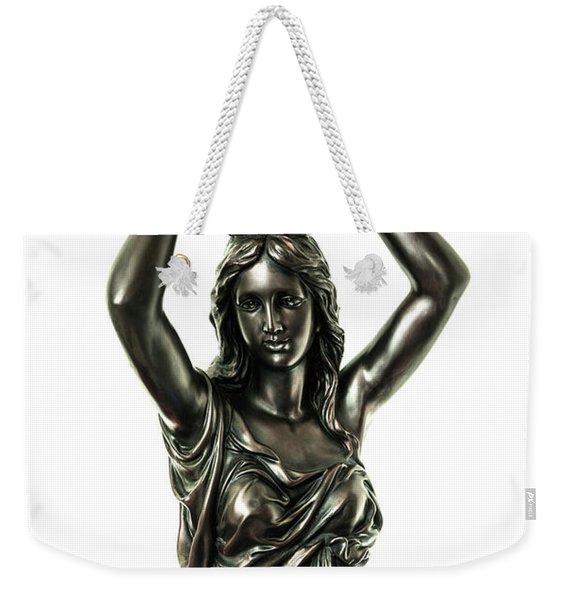 Female Water Goddess Bronze Statue 3288a Weekender Tote Bag