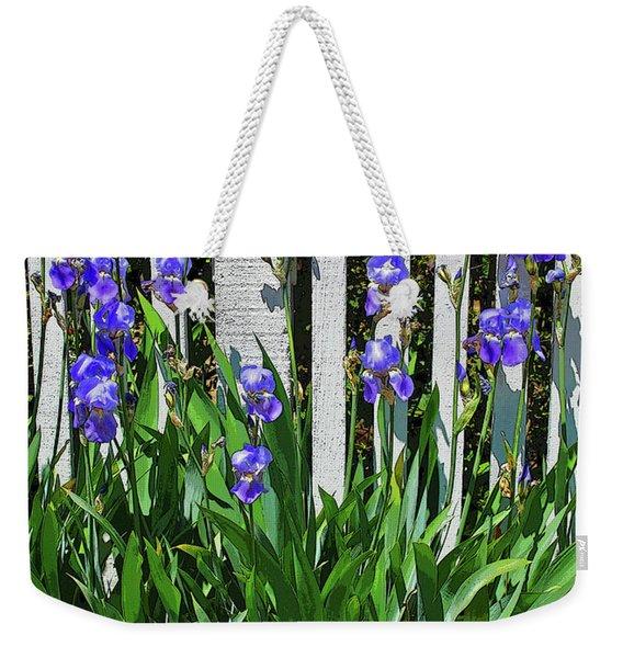 Fence In Purple Weekender Tote Bag