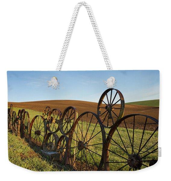 Fence Of Wheels Weekender Tote Bag