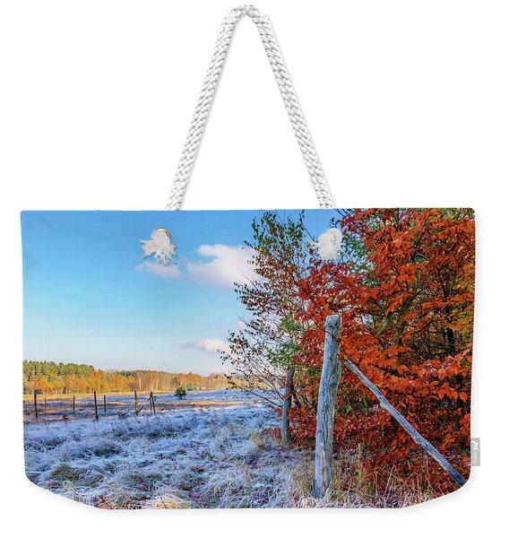 Fenced Autumn Weekender Tote Bag