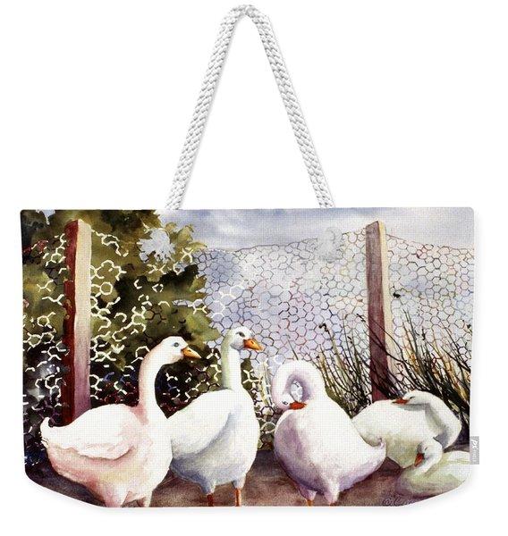 Fenced In Quackers Weekender Tote Bag