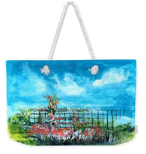 Fenceline Floral Weekender Tote Bag