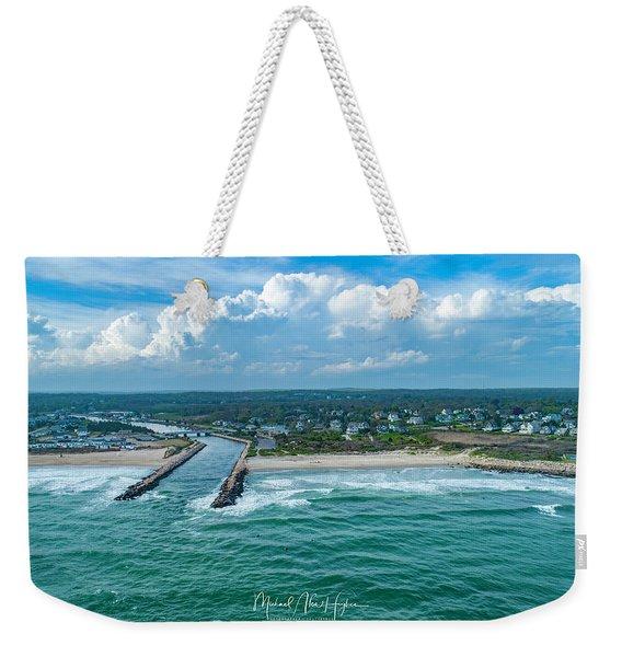 Fenway Beach, Weekapaug,ri Weekender Tote Bag
