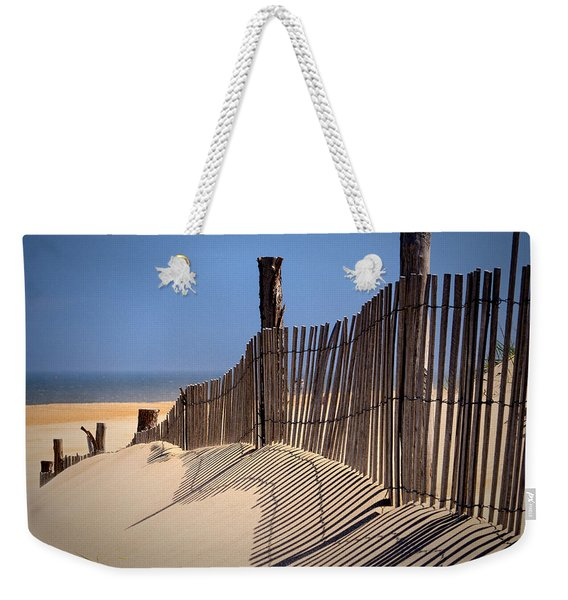 Fenwick Dune Fence And Shadows Weekender Tote Bag