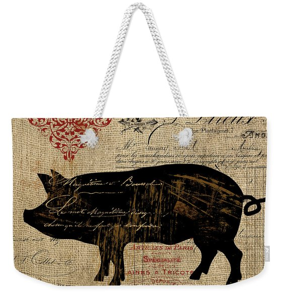 Ferme Farm Piglet Weekender Tote Bag