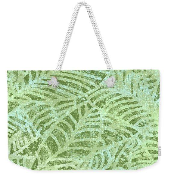 Fern Green Fossil Leaves Weekender Tote Bag