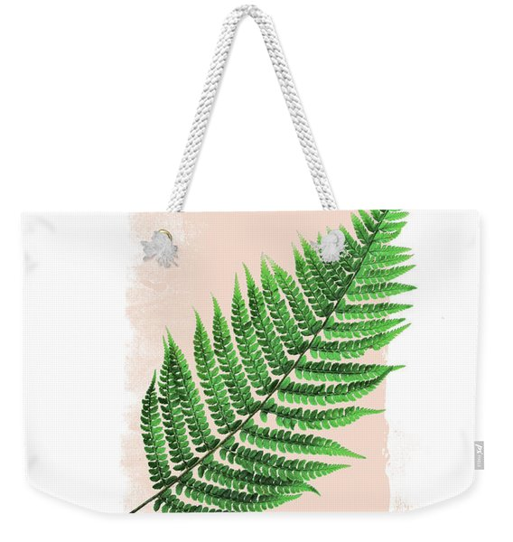 Fern Leaf On Pink Weekender Tote Bag