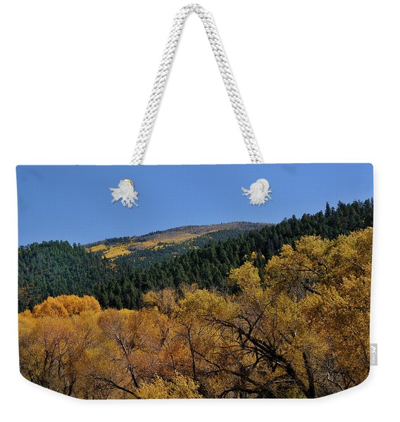 Weekender Tote Bag featuring the photograph Fernando Peak by Ron Cline
